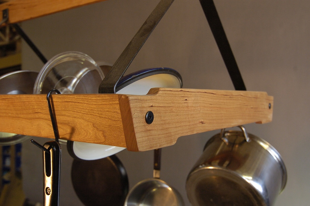 cherry pot rack
